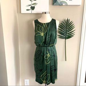 ANTHRO▪️Sariah Kallos Buds Silk Midi Dress. Sz 2